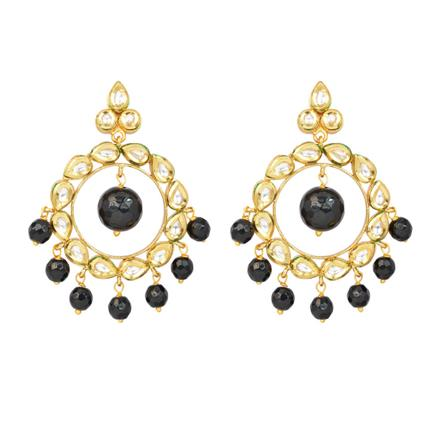40341 Kundan Chand Earring with gold plating
