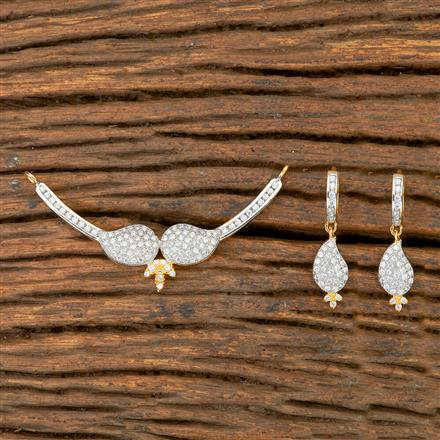 403897 Cz Classic Mangalsutra with 2 Tone plating