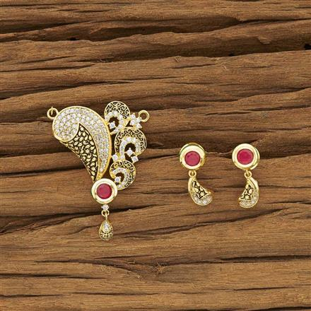 40398 Kundan Classic Mangalsutra with gold plating