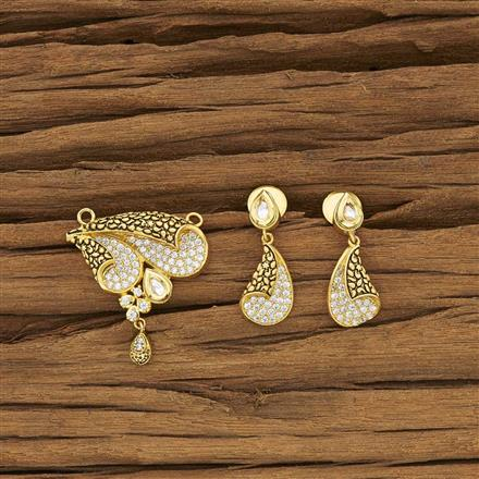 40399 Kundan Classic Mangalsutra with gold plating