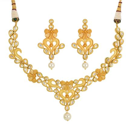 40402 Kundan Classic Necklace with gold plating