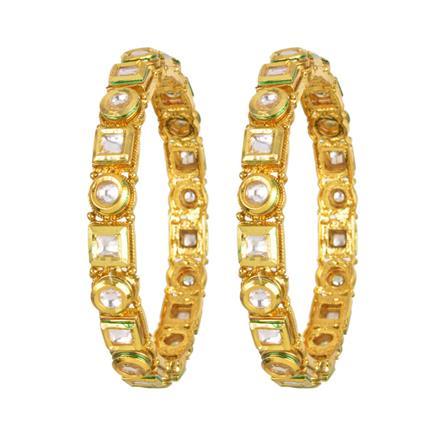 40403 Kundan Classic Bangles with gold plating