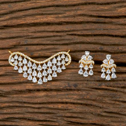 404087 Cz Classic Mangalsutra with 2 Tone plating