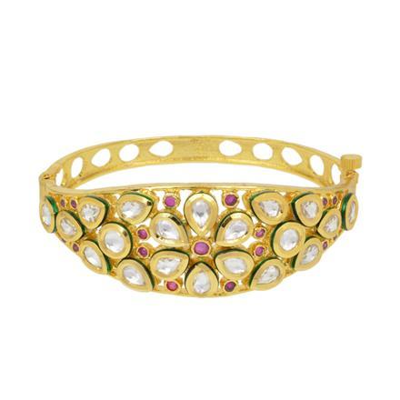 40418 Kundan Classic Kada with gold plating