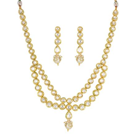 40424 Kundan Classic Necklace with gold plating