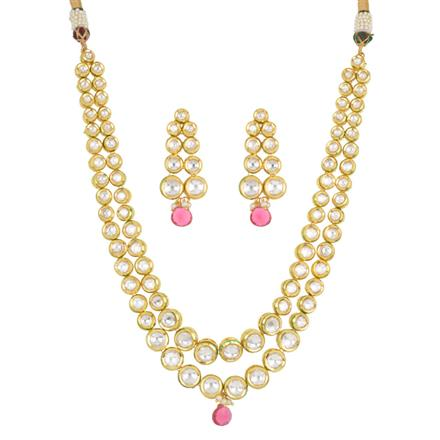 40425 Kundan Classic Necklace with gold plating