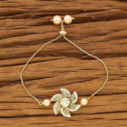 40430 Kundan Adjustable Bracelet with gold plating