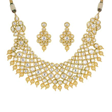 40435 Kundan Classic Necklace with gold plating