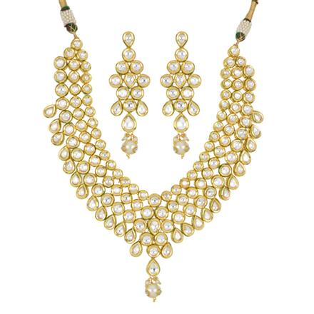 40436 Kundan Classic Necklace with gold plating