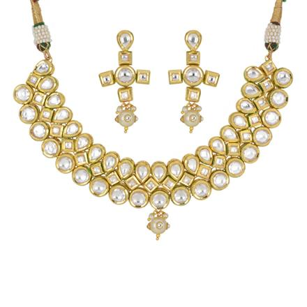 40439 Kundan Classic Necklace with gold plating