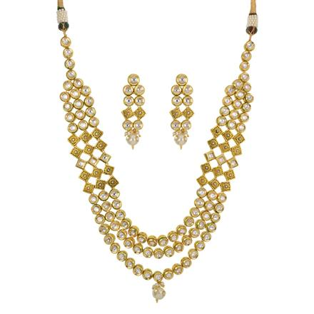 40440 Kundan Classic Necklace with gold plating