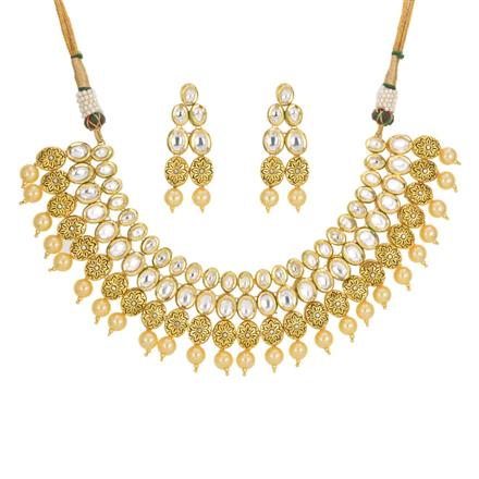 40443 Kundan Classic Necklace with gold plating