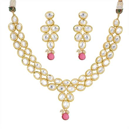 40446 Kundan Classic Necklace with gold plating