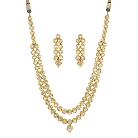 40447 Kundan Classic Necklace with gold plating