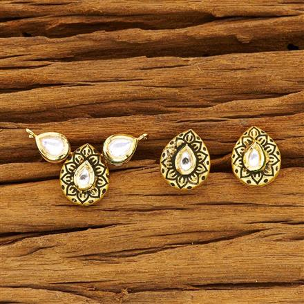 40486 Kundan Classic Mangalsutra with gold plating