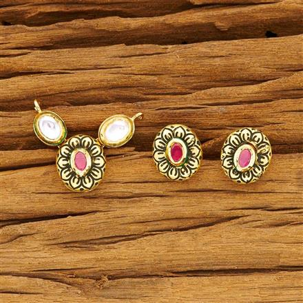 40487 Kundan Classic Mangalsutra with gold plating