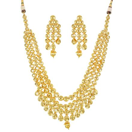 40495 Kundan Classic Necklace with gold plating