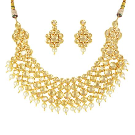 40499 Kundan Classic Necklace with gold plating