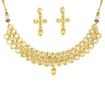 40503 Kundan Classic Necklace with gold plating