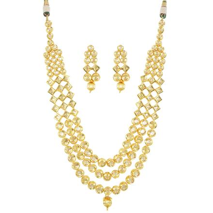 40504 Kundan Classic Necklace with gold plating