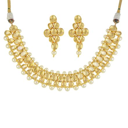 40507 Kundan Classic Necklace with gold plating