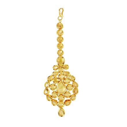 40524 Kundan Classic Tikka with gold plating