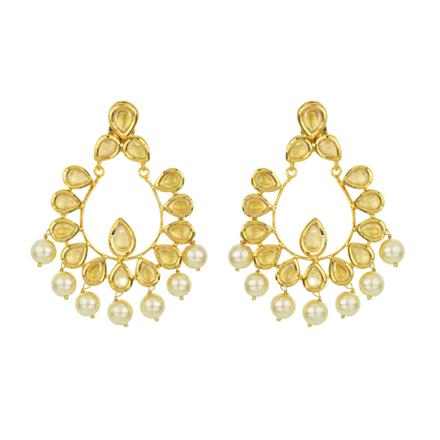 40531 Kundan Classic Earring with gold plating