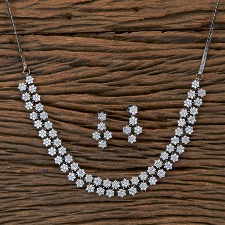 405400 Cz Classic Necklace With Black Plating