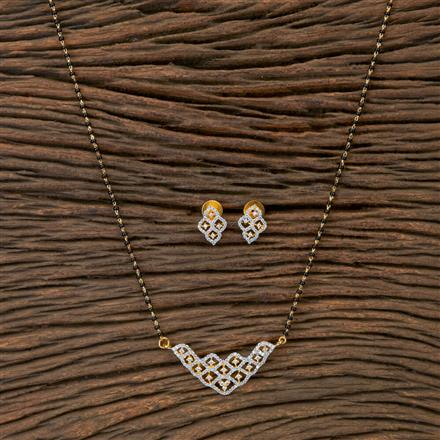 405427 Cz Classic Mangalsutra With 2 Tone Plating