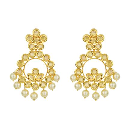 40566 Kundan Classic Earring with gold plating
