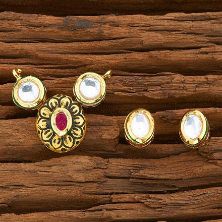 40574 Kundan Classic Mangalsutra with gold plating