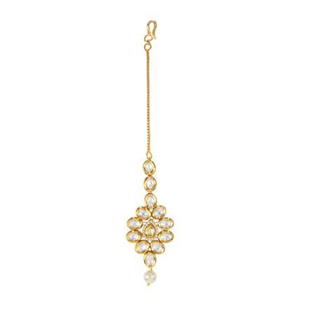 40576 Kundan Classic Tikka with gold plating