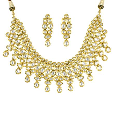 40579 Kundan Classic Necklace with gold plating
