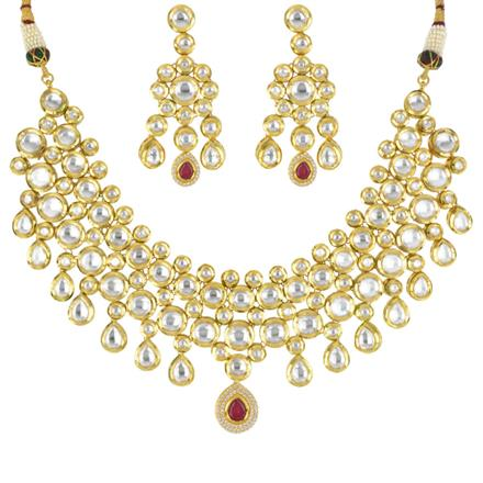 40581 Kundan Classic Necklace with gold plating