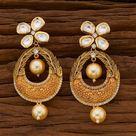 40584 Kundan Classic Earring with gold plating