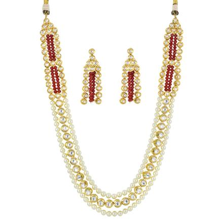 40588 Kundan Classic Necklace with gold plating