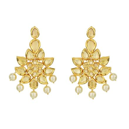40598 Kundan Classic Earring with gold plating