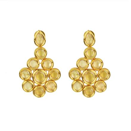 40599 Kundan Classic Earring with gold plating