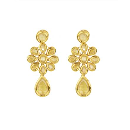 40600 Kundan Classic Earring with gold plating