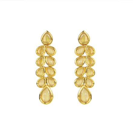 40601 Kundan Classic Earring with gold plating