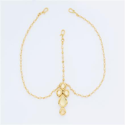 40612 Kundan Classic Damini with gold plating