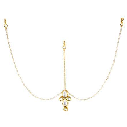 40614 Kundan Classic Damini with gold plating