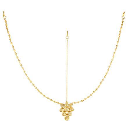 40615 Kundan Classic Damini with gold plating