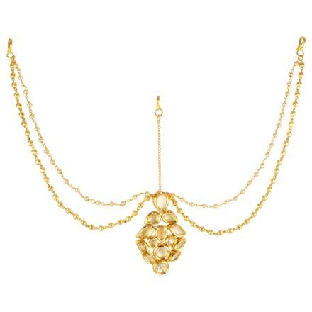 40622 Kundan Classic Damini with gold plating
