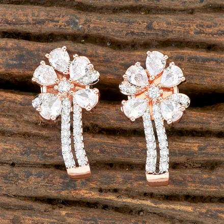 406273 Cz Balis with Rose Gold Plating