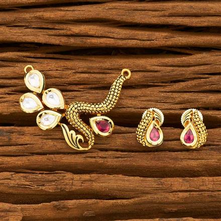 40628 Kundan Classic Mangalsutra with gold plating
