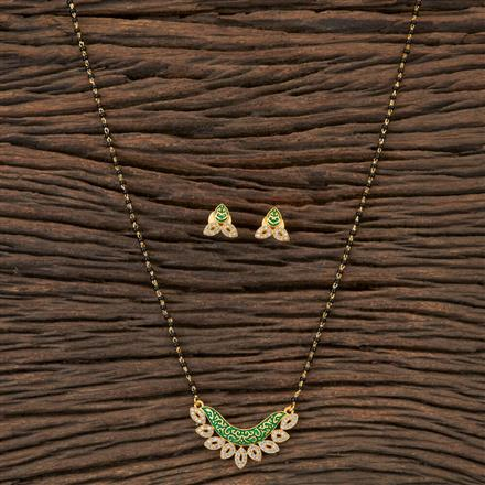 406449 Cz Classic Mangalsutra with Gold Plating