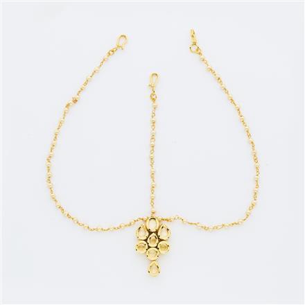 40652 Kundan Classic Damini with gold plating