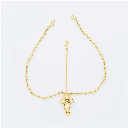40653 Kundan Classic Damini with gold plating