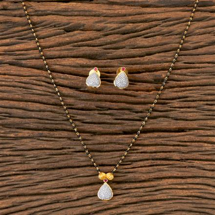 406636 Cz Delicate Mangalsutra with 2 Tone Plating